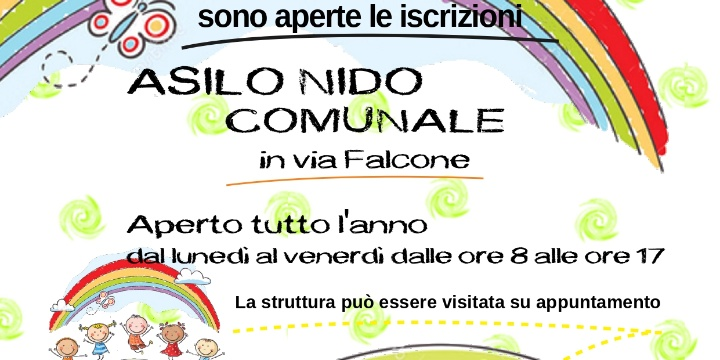 AVVISO PER LE ISCRIZIONI AL NIDO COMUNALE A.E. 2021/2022